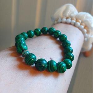 Handmade Malachite Beaded Bracelet